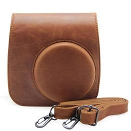 Andoer® Leder Kamera Tasche Abdeckung für Fuji Fujifilm Instax Mini8 Mini8s einzelner Schulter-Beutel - 1