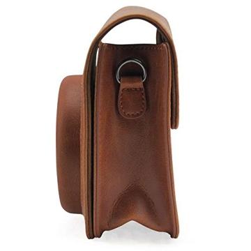 Andoer® Leder Kamera Tasche Abdeckung für Fuji Fujifilm Instax Mini8 Mini8s einzelner Schulter-Beutel - 3