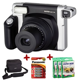 Bundle Fuji Instax 300 Wide Instant Camera +100-Shot Wide Film +Fujiilm Carry Case+ 4 AA Panasonic Gold Batteries - 1