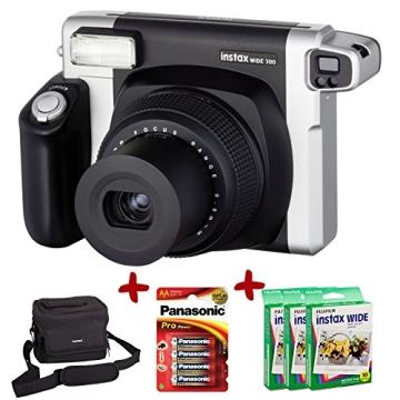 Bundle Fuji Instax 300 Wide Instant Camera +30-Shot Wide Film +Fujiilm Carry Case+ 4 AA Panasonic Gold Batteries - 1