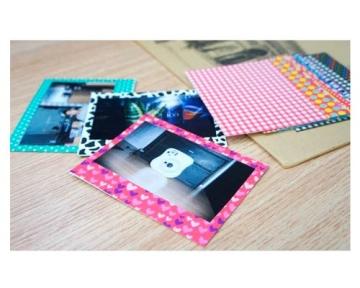 Bunte Fujifilm Instax Wide 210/ 300/ 200 Filme Dekor Aufkleber Rahmen DIY Foto Dekorative Dekoraufkleber Grenzen Verschiedene Farben Schöne Fotorahme - B - 2