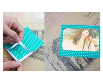 Bunte Fujifilm Instax Wide 210/ 300/ 200 Filme Dekor Aufkleber Rahmen DIY Foto Dekorative Dekoraufkleber Grenzen Verschiedene Farben Schöne Fotorahme - B - 3