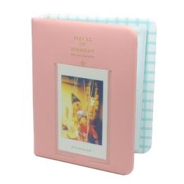 CAIUL Fujifilm Instax Mini FotoAlbum Fotohüllen Speziell Für Fujifilm Instax Miini Film 7S/8/25/50/90, 14*11cm, 64 Seiten, Pink - 1