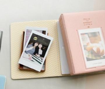 CAIUL Fujifilm Instax Mini FotoAlbum Fotohüllen Speziell Für Fujifilm Instax Miini Film 7S/8/25/50/90, 14*11cm, 64 Seiten, Pink - 2