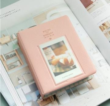 CAIUL Fujifilm Instax Mini FotoAlbum Fotohüllen Speziell Für Fujifilm Instax Miini Film 7S/8/25/50/90, 14*11cm, 64 Seiten, Pink - 3