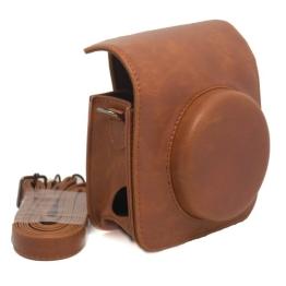 CAIUL Retro Kameratasche Gehäuse Taschen für Fuji Fujifilm Instax Mini 90 Kamera (Material:Pu-Kunstleder),Braun - 1
