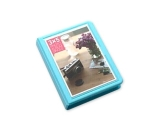 Fotoalbum für Fujifilm Instax WIDE 210/200/300 Films Fotohüllen Kunststoff Fotobuch Photoalbum Fotoalben mit 32 Taschen - Blau - 1