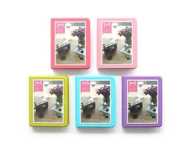 Fotoalbum für Fujifilm Instax WIDE 210/200/300 Films Fotohüllen Kunststoff Fotobuch Photoalbum Fotoalben mit 32 Taschen - Blau - 2