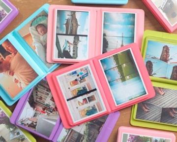 Fotoalbum für Fujifilm Instax WIDE 210/200/300 Films Fotohüllen Kunststoff Fotobuch Photoalbum Fotoalben mit 32 Taschen - Grün - 2