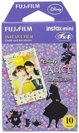 Fuji Instax Mini Films - Disney Alice in Wonderland | Usable with Polaroid Mio & 300 - Lomo Diana Instant Back | 10 sheets - 1