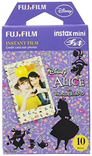 Fuji Instax Mini Films - Disney Alice in Wonderland | Usable with Polaroid Mio & 300 - Lomo Diana Instant Back | 10 sheets - 1
