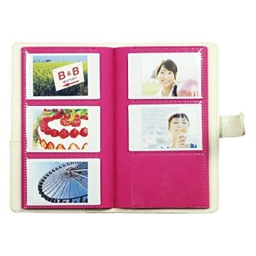 Fuji Instax Photo Album Lapolta 120 for Fuji Instax Mini 7s /50s/ Polaroid Mio /300 Lomo Diana Back Cameras - 4