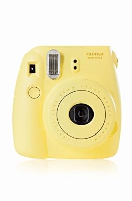 Fujifilm 16273180 Instax Mini 8 Sofortbildkamera (62 x 46mm) gelb - 1