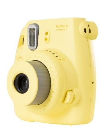 Fujifilm 16273180 Instax Mini 8 Sofortbildkamera (62 x 46mm) gelb - 3