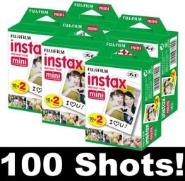 Fujifilm Film für die Instax Mini Sofortbildkamera, 5 Packungen für je 20 Bilder, für insgesamt 100 Fotos - 1