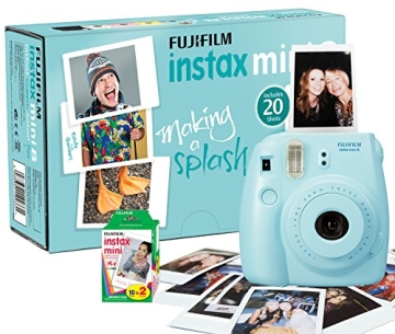 Fujifilm Instax Mini 8 Camera with 20 Shots - Blue - 1