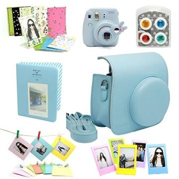 Fujifilm Instax Mini 8 Kamera Zubehör Sets (Included: Instax Mini 8 Kameratasche Gehäuse Taschen/Nahlinse Mit Spiegel/Dekorative Aufkleber Für Filme/Dekorative Fotorahmen) - 1