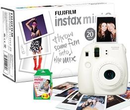 Fujifilm INSTAX MINI8 Sofortbildkamera inkl. 20 Instax Mini Film 62x46mm weiss - 1