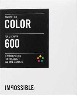Impossible 2785 Sofortbildfilm für Polaroid 600 Kamera (color, 8-Aufnahmen) - 1