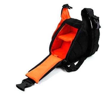 Innengepolsterte Premium-Tasche Rucksack für Fujifilm Instax WIDE 300 / Instax mini HELLO KITTY und Kamera-Zubehör - mit Regenschutz - 5