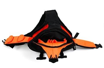 Innengepolsterte Premium-Tasche Rucksack für Fujifilm Instax WIDE 300 / Instax mini HELLO KITTY und Kamera-Zubehör - mit Regenschutz - 7