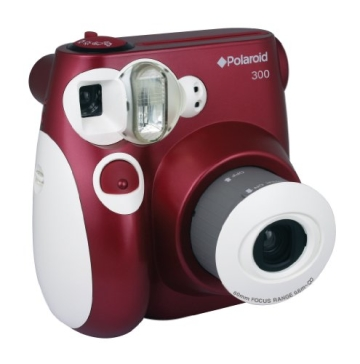 Polaroid 300 Sofortbildkamera (Blitz, Automatik für 4 Szenen, ohne Film) rot - 3