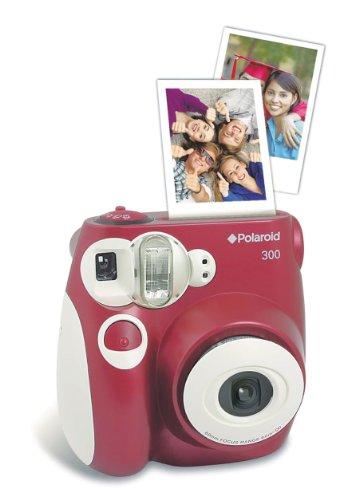 Polaroid 300 Sofortbildkamera (Blitz, Automatik für 4 Szenen, ohne Film) rot - 4