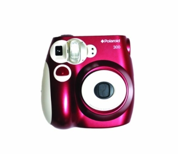 Polaroid 300 Sofortbildkamera (Blitz, Automatik für 4 Szenen, ohne Film) rot - 5