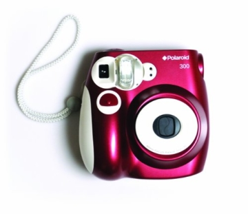 Polaroid 300 Sofortbildkamera (Blitz, Automatik für 4 Szenen, ohne Film) rot - 6