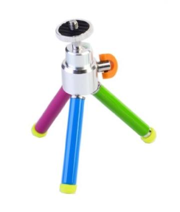 Polaroid 8 Zoll farbiges Hochleistungsstativ mit Schwenk-/Neigkopf (schwarz) für die digitalen Sofortbildkameras Polaroid Z2300, Z340 (schwarz) - 2