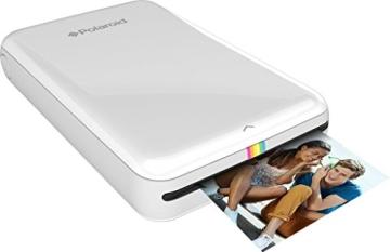 Polaroid Handydrucker ZIP mit tintenfreier Drucktechnologie ZINK - Kompatibel mit iOS & Android Geräten - Weiß - 1