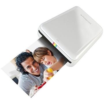 Polaroid Handydrucker ZIP mit tintenfreier Drucktechnologie ZINK - Kompatibel mit iOS & Android Geräten - Weiß - 2