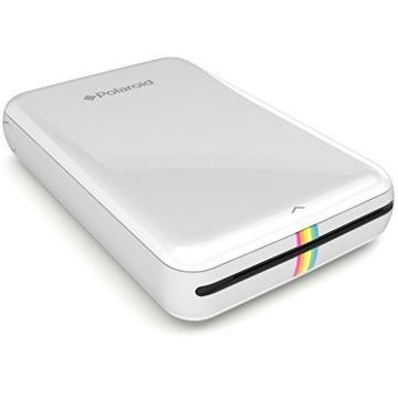 Polaroid Handydrucker ZIP mit tintenfreier Drucktechnologie ZINK - Kompatibel mit iOS & Android Geräten - Weiß - 3