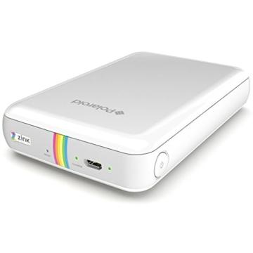 Polaroid Handydrucker ZIP mit tintenfreier Drucktechnologie ZINK - Kompatibel mit iOS & Android Geräten - Weiß - 5