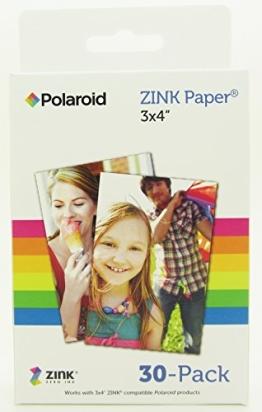Polaroid M340 Zink Media Fotopapier GL10 Paper (10,2 cm (4 Zoll) x 7,6 cm (3 Zoll), 30-er Pack) - 1