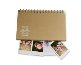 Retro Fotoalbum für Fujifilm Instax Mini Films Fotobuch DIY Pappe Foto Album Gästebuch Blanko Spiralalbum Photoalbum - Rahmen - 1