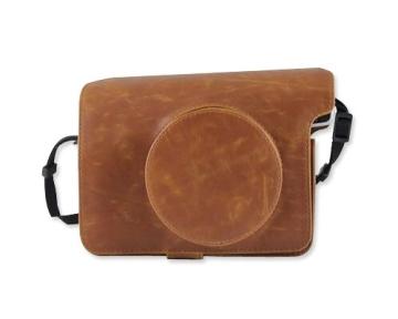 Retro PU Leder Kameratasche Ledertasche Schutztasche Schutzhülle Kamerahülle Gehäuse Taschen mit Schultergurt für Fujifilm Instax WIDE 300 Kamera - Braun - 1