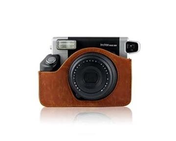 Retro PU Leder Kameratasche Ledertasche Schutztasche Schutzhülle Kamerahülle Gehäuse Taschen mit Schultergurt für Fujifilm Instax WIDE 300 Kamera - Braun - 2