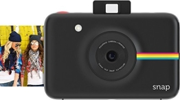 Polaroid Digitale Instant Snap Kamera (Schwarz) mit ZINK Zero Ink Technologie - 1