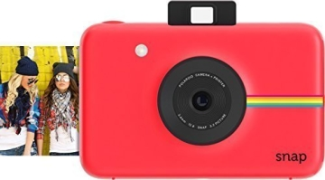 Polaroid Snap Instant Digital Camera (rot) wih ZINK Zero Ink Printing Technology - 1