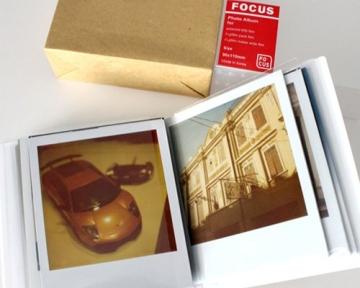 Fuji Sofortbild Mini Buch PVC Fotoalbum Album Fotohülle für Fujifilm Instax Mini 210/ 200 Filme, Polaroid 600/ PX70/ PX 680/ PX 600/ PX100, Fujifilm FP100C/ FP 3000B Filme - Fokus - 3