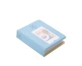 Instax Mini FotoAlbum Fotohüllen Speziell Für Fuji Instant Mini 8/7S/90/50S/25 Kamera Film , 14 (L) x 11 (B) x 3.3 (H), 64 Seiten, Blau - 1