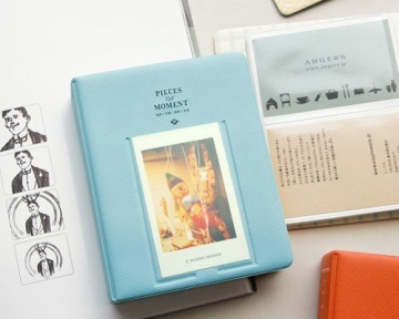 Instax Mini FotoAlbum Fotohüllen Speziell Für Fuji Instant Mini 8/7S/90/50S/25 Kamera Film , 14 (L) x 11 (B) x 3.3 (H), 64 Seiten, Blau - 2