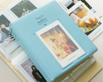 Instax Mini FotoAlbum Fotohüllen Speziell Für Fuji Instant Mini 8/7S/90/50S/25 Kamera Film , 14 (L) x 11 (B) x 3.3 (H), 64 Seiten, Blau - 3