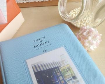 Instax Mini FotoAlbum Fotohüllen Speziell Für Fuji Instant Mini 8/7S/90/50S/25 Kamera Film , 14 (L) x 11 (B) x 3.3 (H), 64 Seiten, Blau - 4