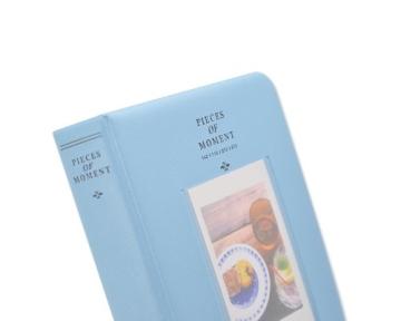 Instax Mini FotoAlbum Fotohüllen Speziell Für Fuji Instant Mini 8/7S/90/50S/25 Kamera Film , 14 (L) x 11 (B) x 3.3 (H), 64 Seiten, Blau - 9
