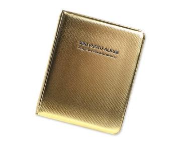 Mini Buch Art Fujifilm Instax Mini FotoAlbum Fotohüllen Speziell Für Fujifilm Instax Miini Film 7S/8/25/50/90 - 7.5 (L) x 9.7 (B), Golden - 1