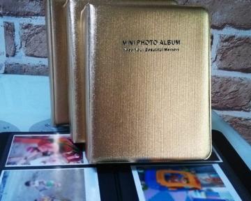 Mini Buch Art Fujifilm Instax Mini FotoAlbum Fotohüllen Speziell Für Fujifilm Instax Miini Film 7S/8/25/50/90 - 7.5 (L) x 9.7 (B), Golden - 3