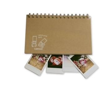 Retro Fotoalbum für Fujifilm Instax Mini Films Fotobuch DIY Pappe Foto Album Gästebuch Blanko Spiralalbum Photoalbum - Krabbe - 1