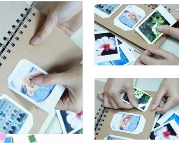 Retro Fotoalbum für Fujifilm Instax Mini Films Fotobuch DIY Pappe Foto Album Gästebuch Blanko Spiralalbum Photoalbum - Krabbe - 2